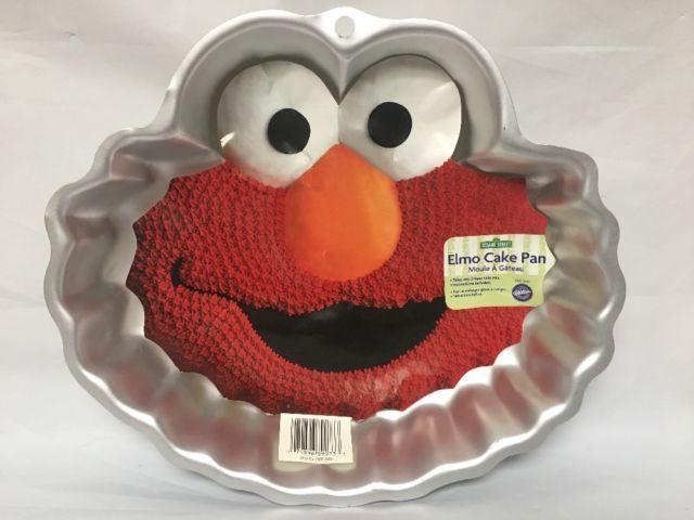 Sesame Street Elmo 2002 Wilton Cake Pan With Instructions EUC