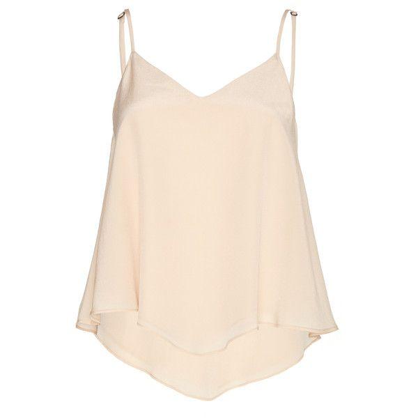 f0124bab8ed35 Alice + Olivia Nude Pink Emmeline Handkerchief Boho Tank ( 195) ❤ liked on Polyvore  featuring tops