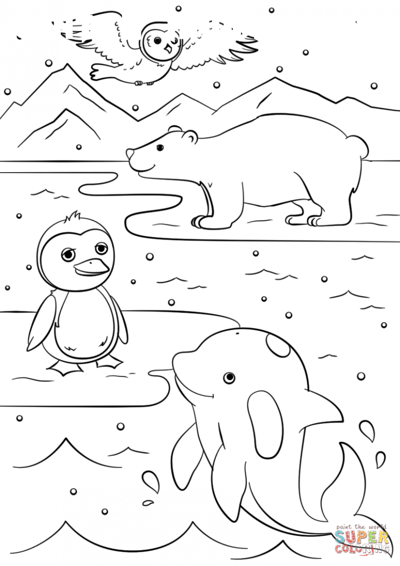 8 Winter Animal Coloring Pages In 2020 Animal Coloring Pages Puppy Coloring Pages Coloring Pages Winter