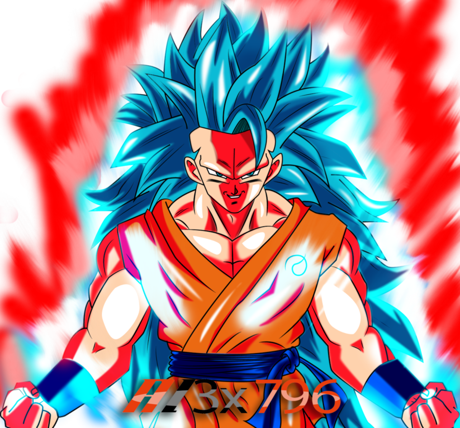Super Saiyan Blue 3 Kaioken Goku Dragon Ball Dragon Ball