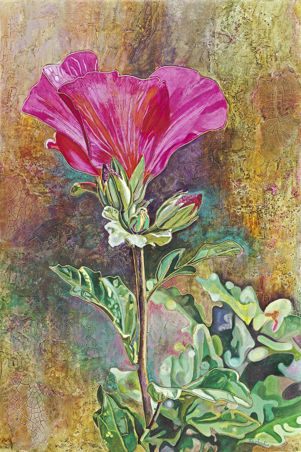 Rose of Sharon - My Redeemer: I know that my Redeemer lives, and that in the end he will stand on the earth… How my heart yearns! Job 19:25, 27 #home #decor #art #christian #god #Rose #Sharon #Flower #painting