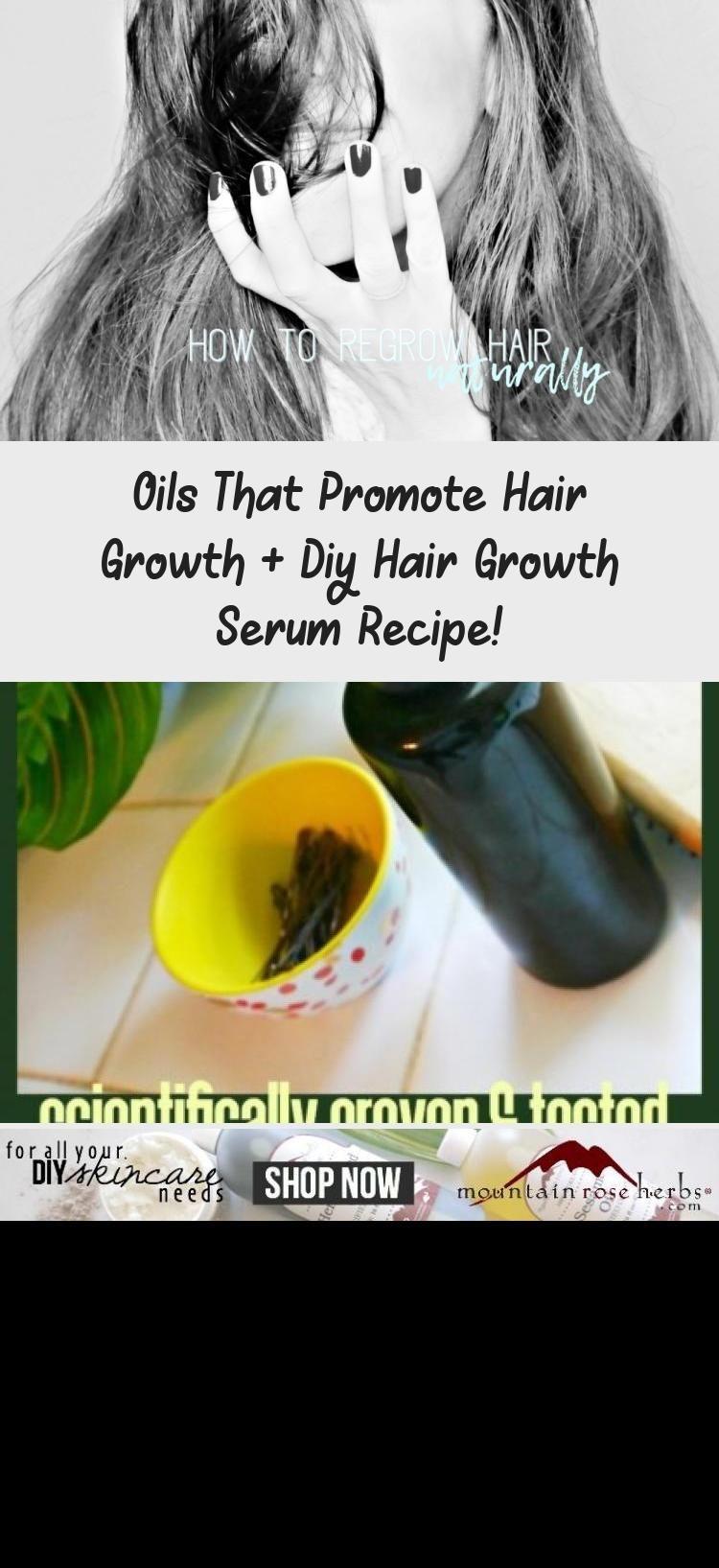 Oils that Promote Hair Growth + DIY Hair Growth Serum