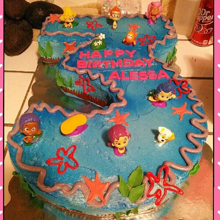 Bubble Guppy 3 Shaped Birthday Cake Sweet Corner Bakery