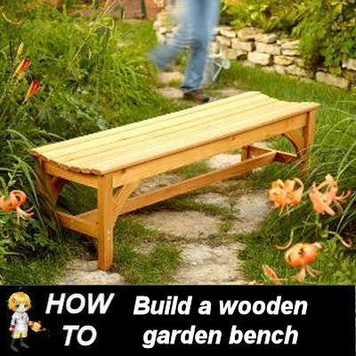 DIY Garden Bench - Build it yourself - http://thegardeningcook.com/diy-garden-bench/