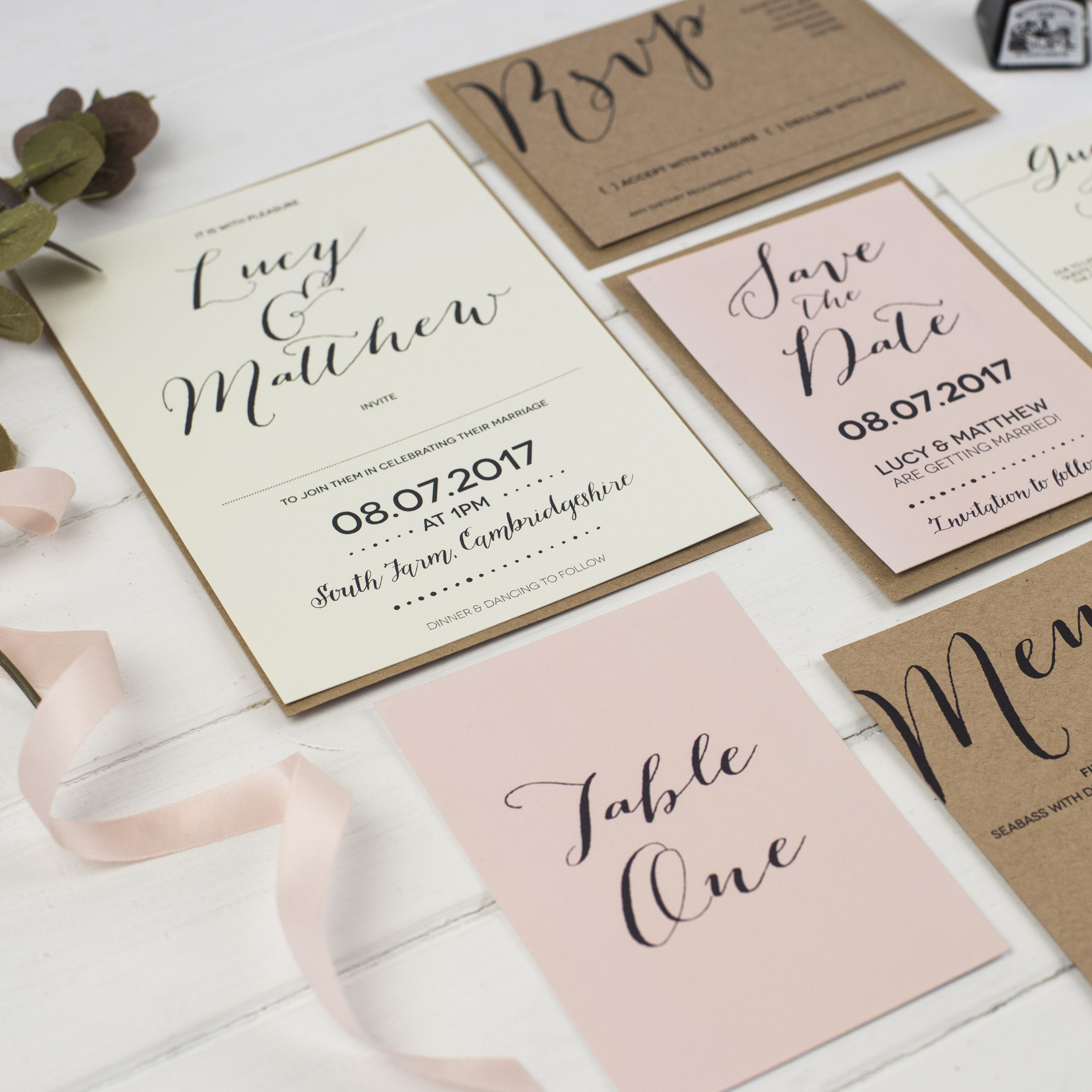 Modern Calligraphy Wedding Invitation Creative wedding