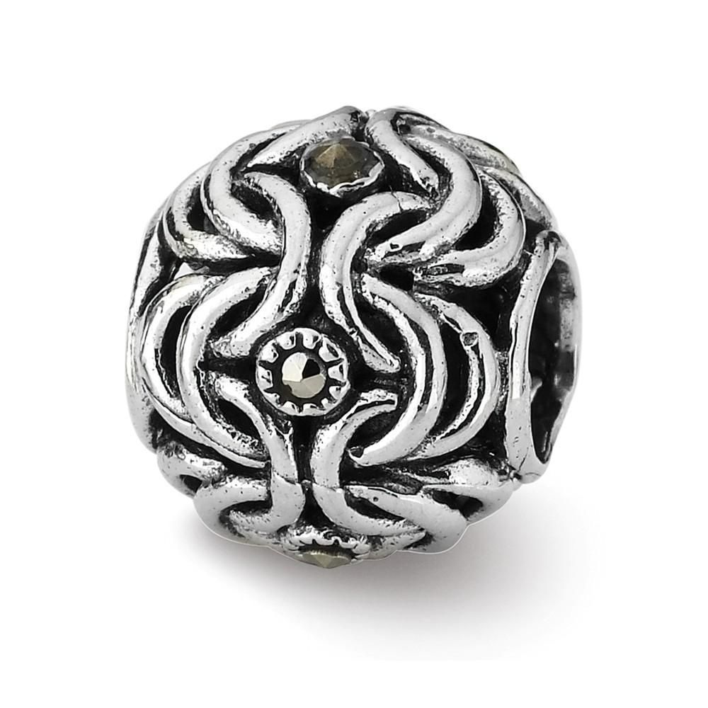Black Bow Jewelry Sterling Silver X Bali Bead Charm