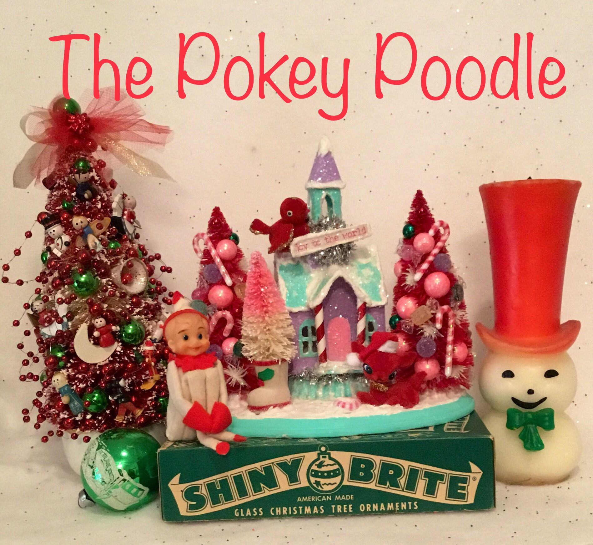 One of a kind Christmas Villages and Kitschy decor! | Christmas Past ...