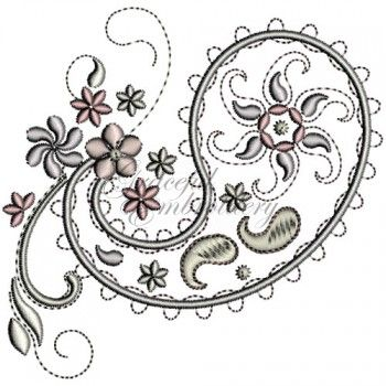 Delicate Paisley Embroidery Designs Embroidery Designs Info