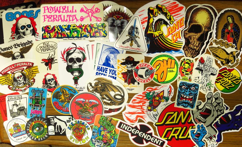 Danny Young Tattoo • bought some 80\'s skate stickers. some ...