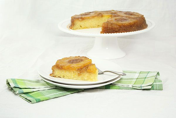 Pineapple Upside-Down Cake with Rum Chantilly Cream