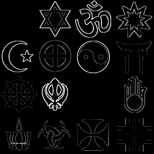 Religion Symbols Row 1 Christianity Judaism Hinduism Bahai