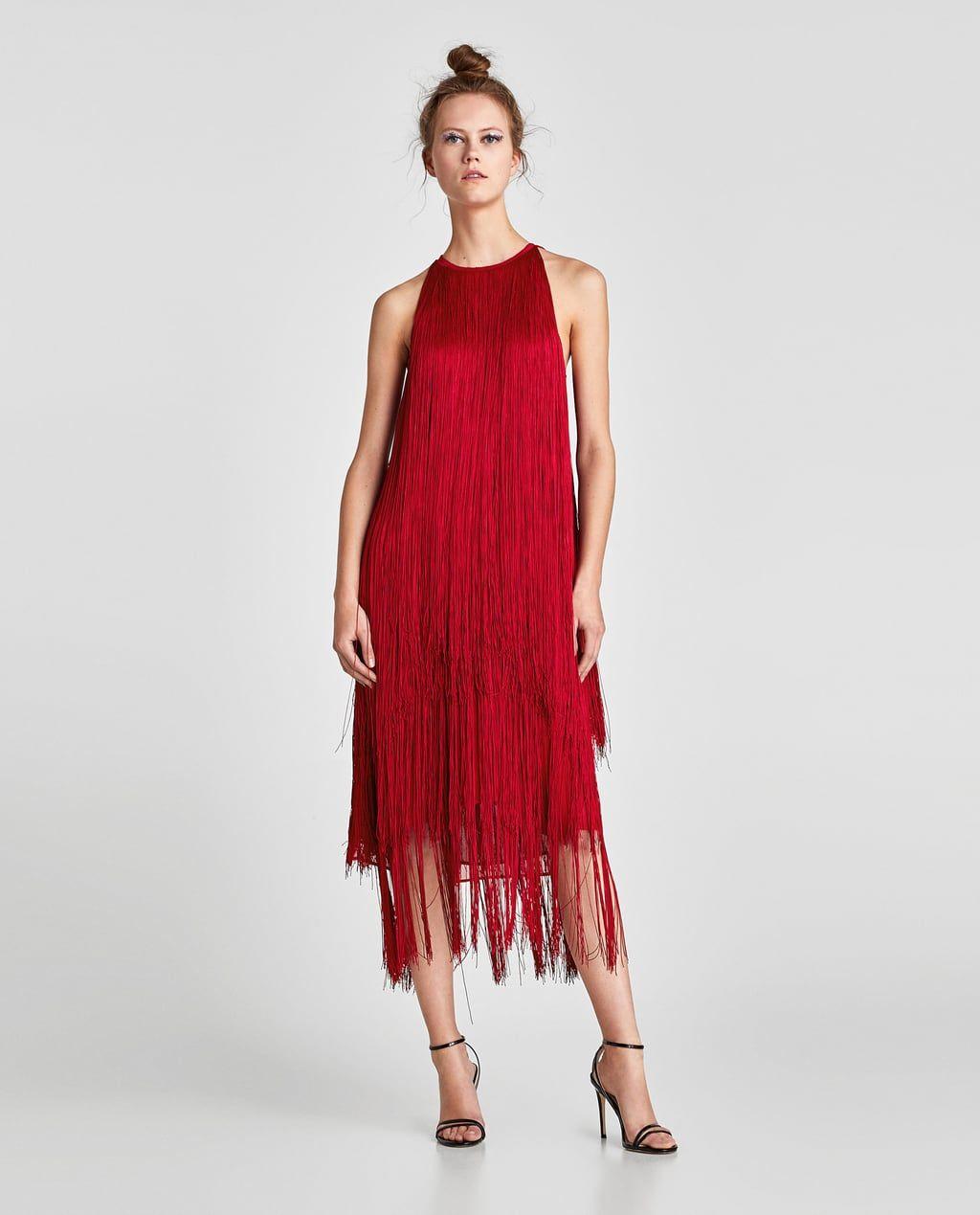 d4f03ed2 Bilde 1 fra KJOLE MED LANGE FRYNSER fra Zara | Dress up | Dresses ...