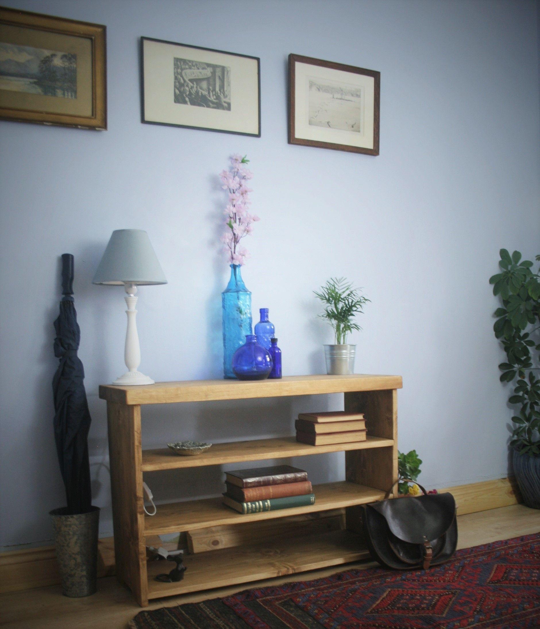 Custom UK Handmade Mid Century Modern Rustic Style Hallway U0026 Entryway  Furniture; Thick Reclaimed Wood
