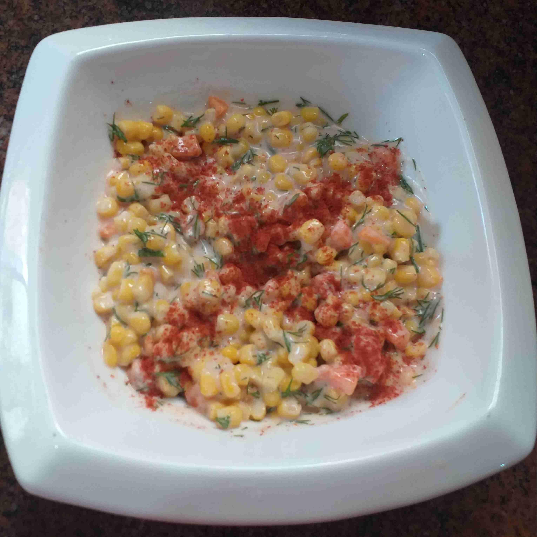 سلطة ذرة مايونيز زاكي Recipe Food Side Plates Vegetables