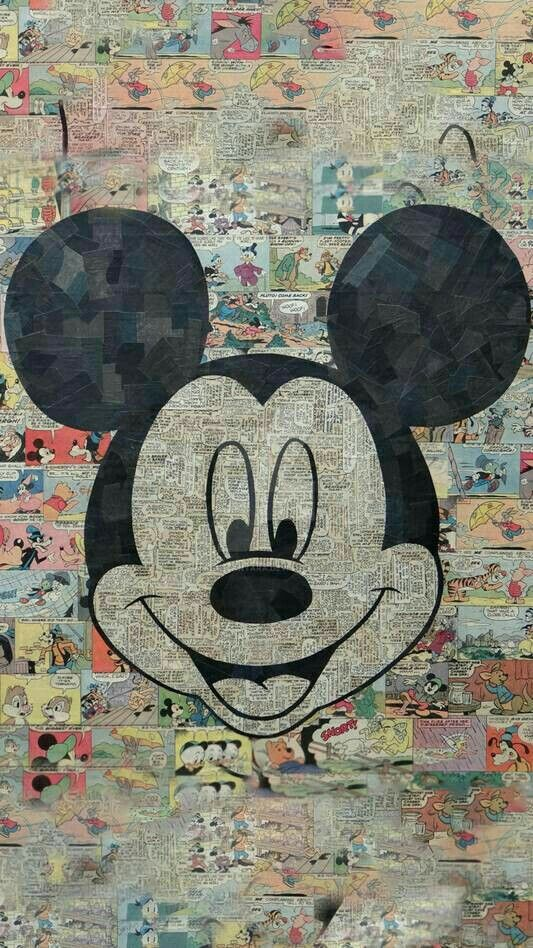Mickey Mouse Collage Comic Strips Wallpaper Mickey Mouse