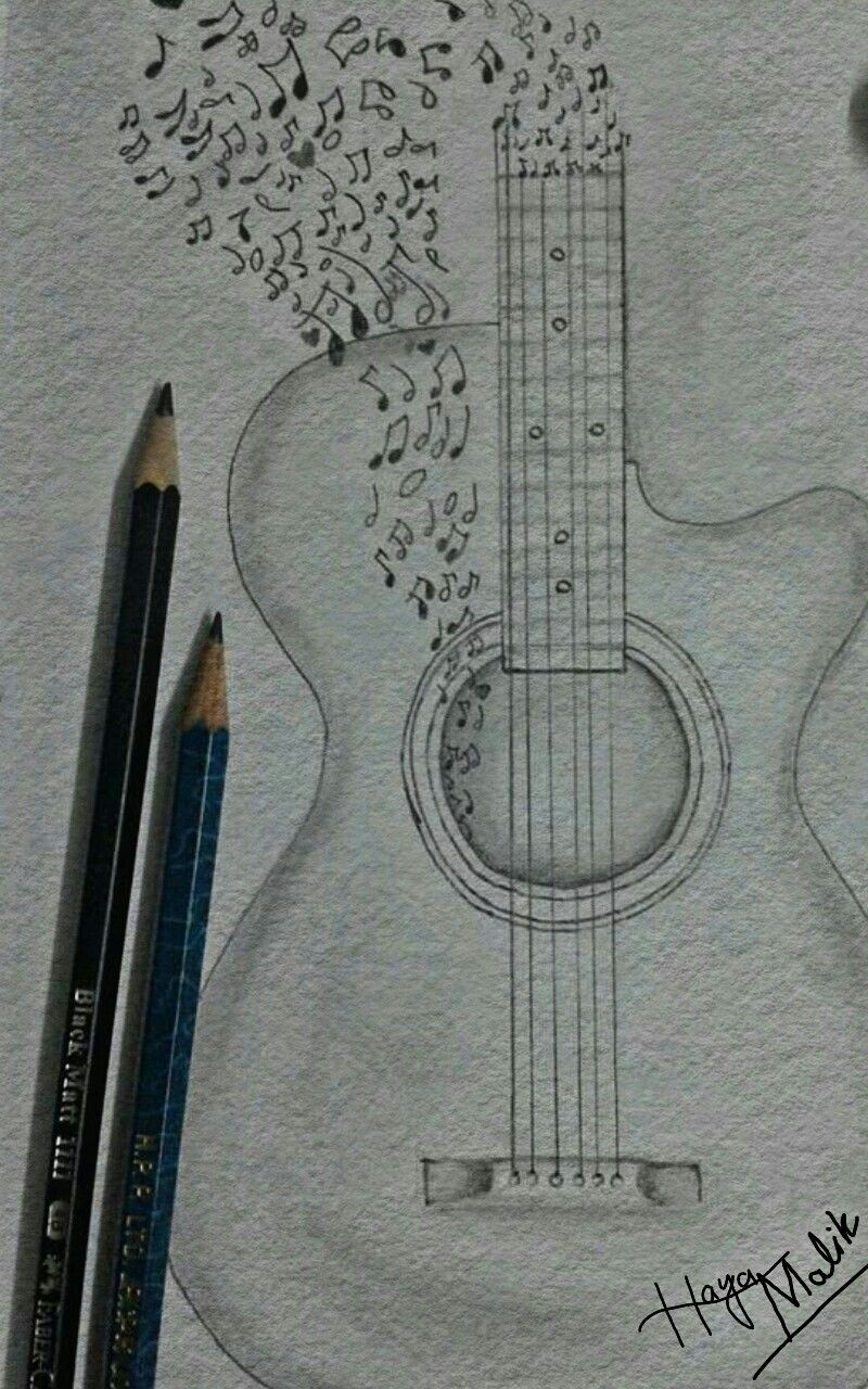 gitar music hayamalik Çizimler, Çizim, Sanat