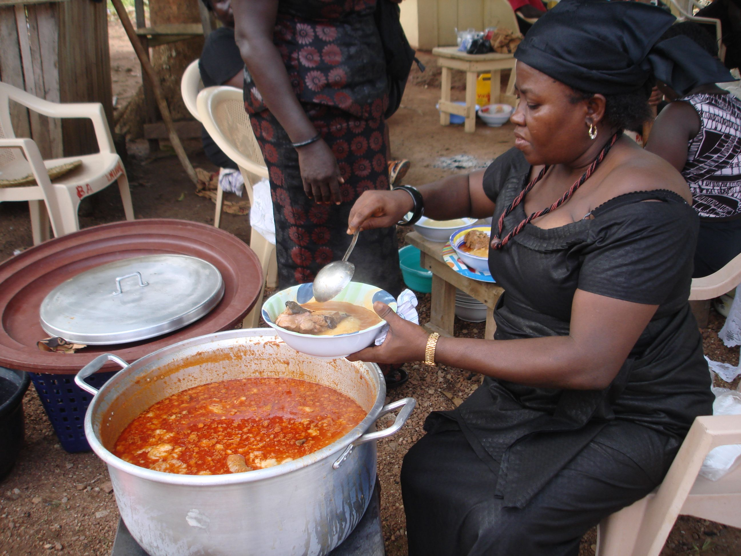 A party and a funeral african cooking african food food