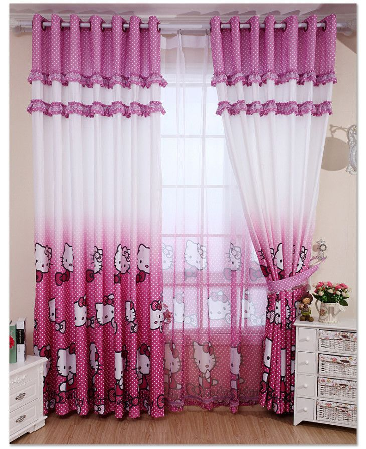 14 awesome hello kitty bedroom curtains photograph ideas   01