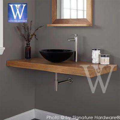 Wood Slab Bathroom Counter Teak Bathroom Slab With Images