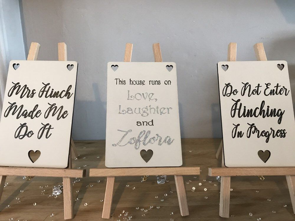 Mrs Hinch Inspired Wooden Signs Zoflora Etsy Wooden Signs Hand Painted Signs Wooden Hand