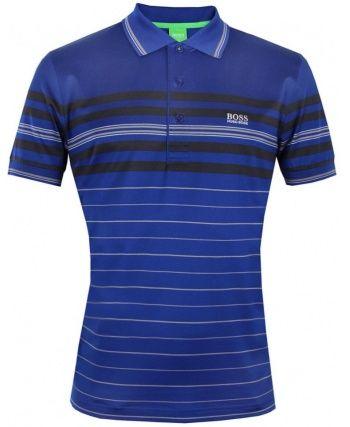 f7e520f9a Hugo Boss Green Mens Blue Paddy 2 Striped Polo | Guy stuff | Golf ...