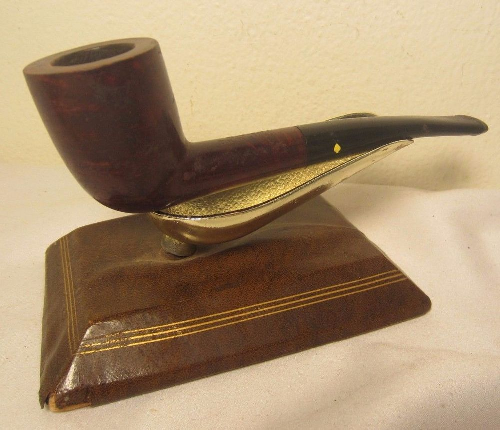 Vintage estate pipe dr grabow golden duke filtered pipe imported briar - Vintage Dr Grabow Riviera Half Bent Dublin Briar Estate Tobacco Smoking Pipe