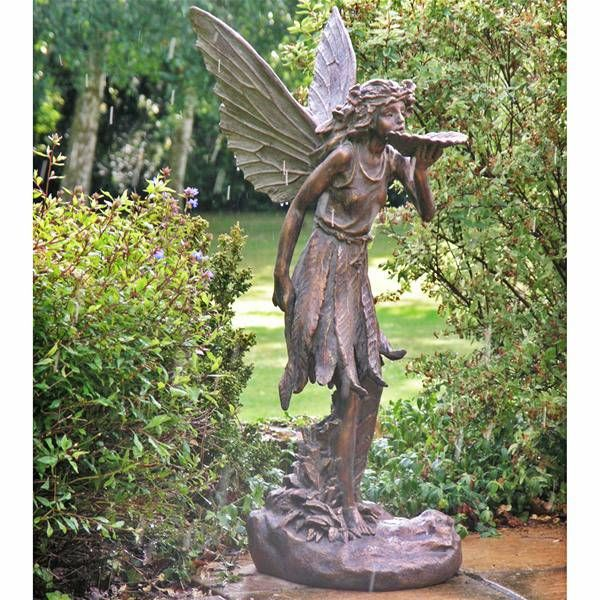 large standing fairy resin garden statue garden fairy. Black Bedroom Furniture Sets. Home Design Ideas