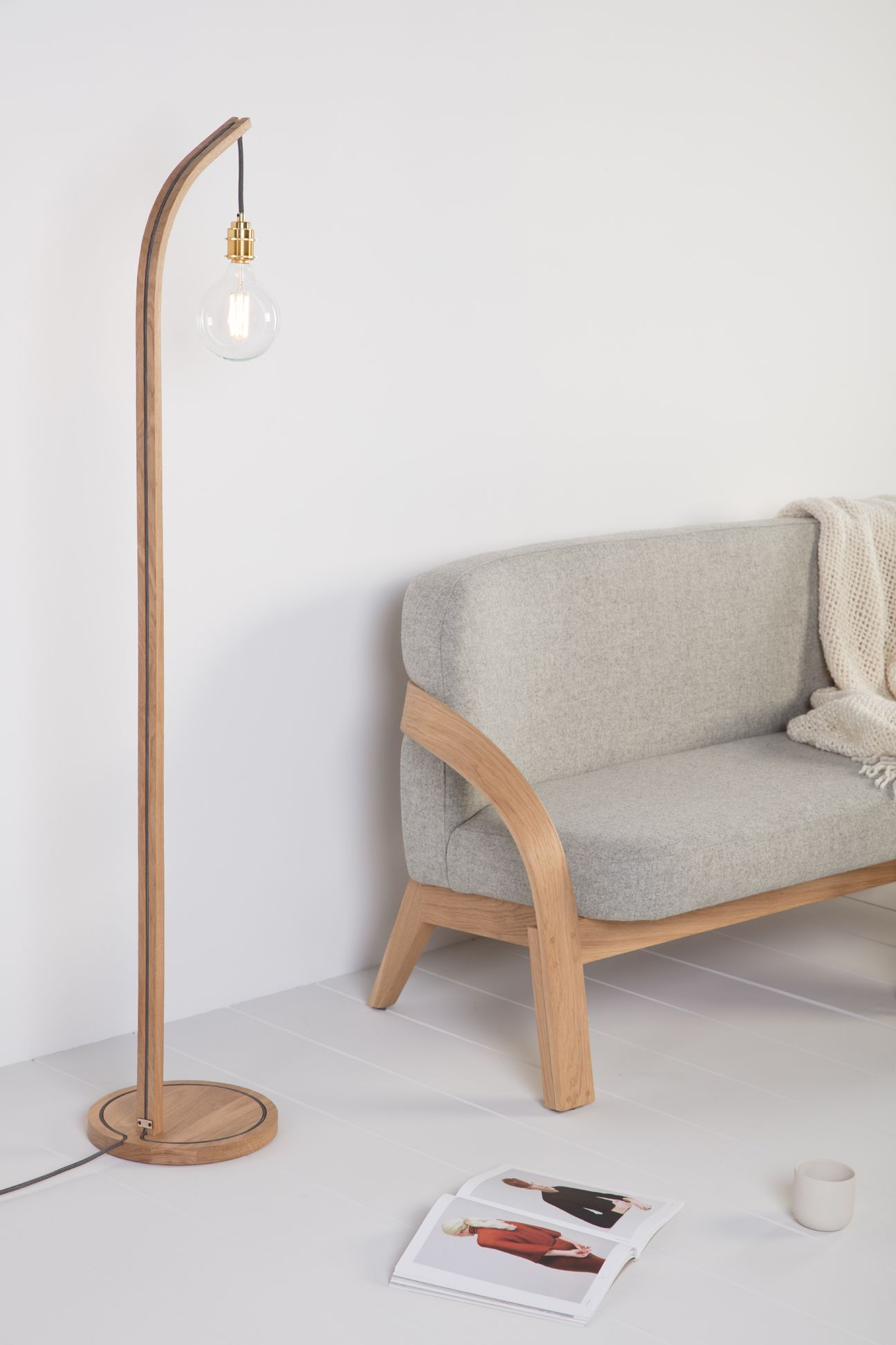 The Mooring Floor Light With Grey Flex Part Of The New Collection Aw17 By Tom Raffield Red Accent Chair Floor Lights Floor Standing Lamps