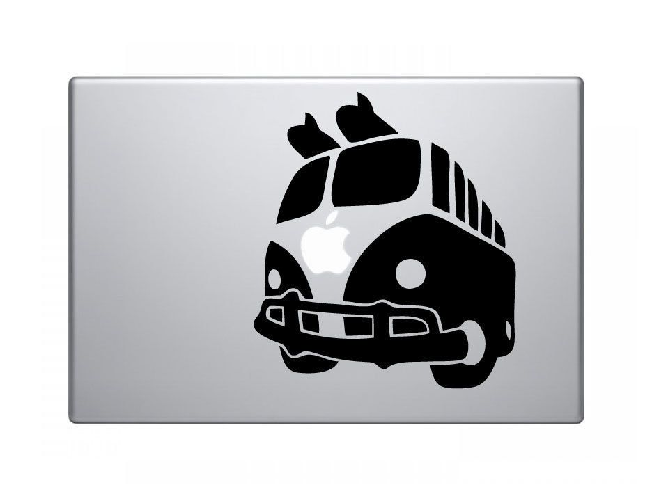 VW Bus Surf Surfer Decal Sticker Skin for Apple MacBook Pro Air Mac ...