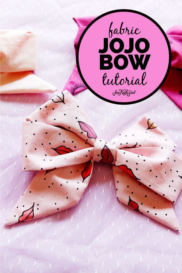 how to make a jojo bow with fabric! - see kate sew