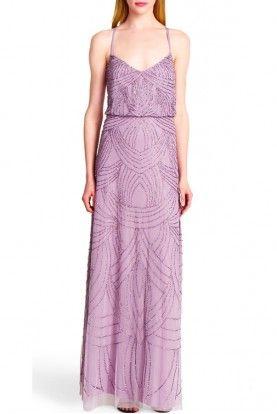Purple Bridesmaid Dresses Adrianna Papell