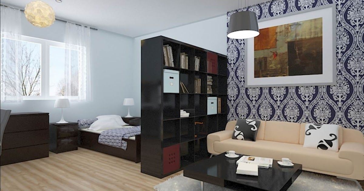 Clever Storage Ideas For Studio Apartments Home Interior Studio Apartment S In 2020 Living Room And Bedroom Combo Apartment Decorating Living Rectangular Living Rooms