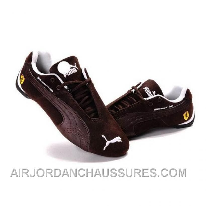 Puma Future Cat GT Ferrari Suede Shoes In Brown Authentic