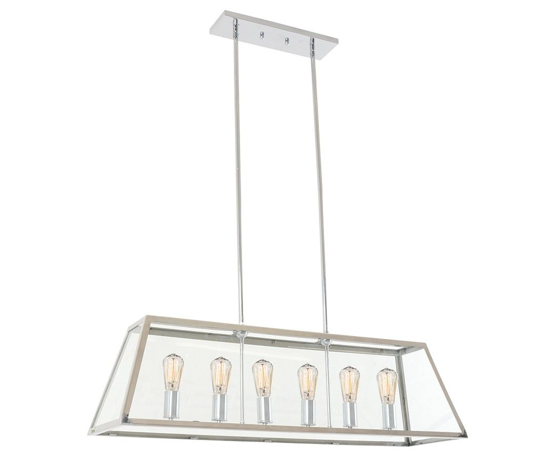 Stainless Steel Kitchen Light Southampton 6 Light Pendant In Stainless Steel Light