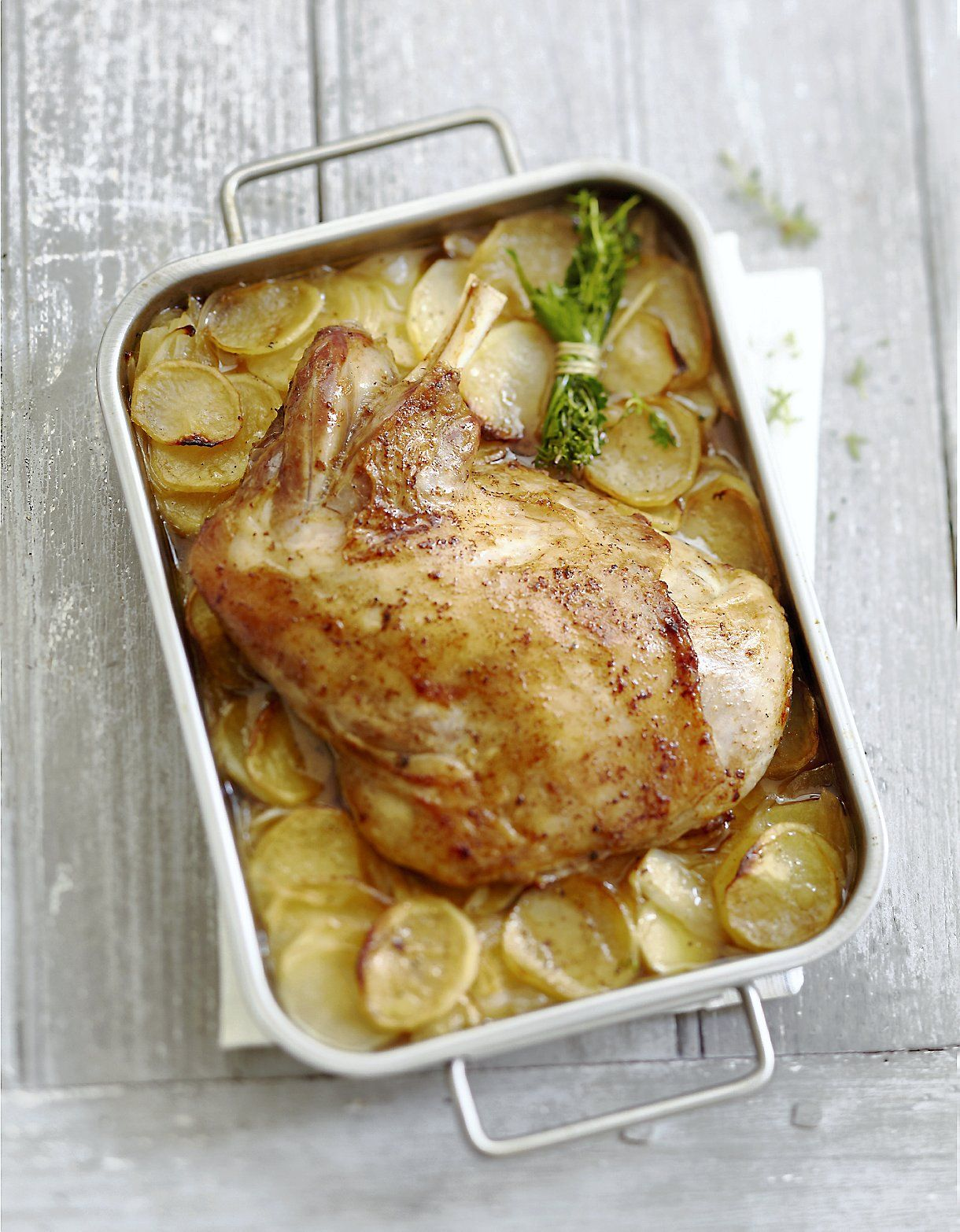 Paule d agneau au four sur lit de pommes de terre - Sauce pour gigot d agneau au four ...