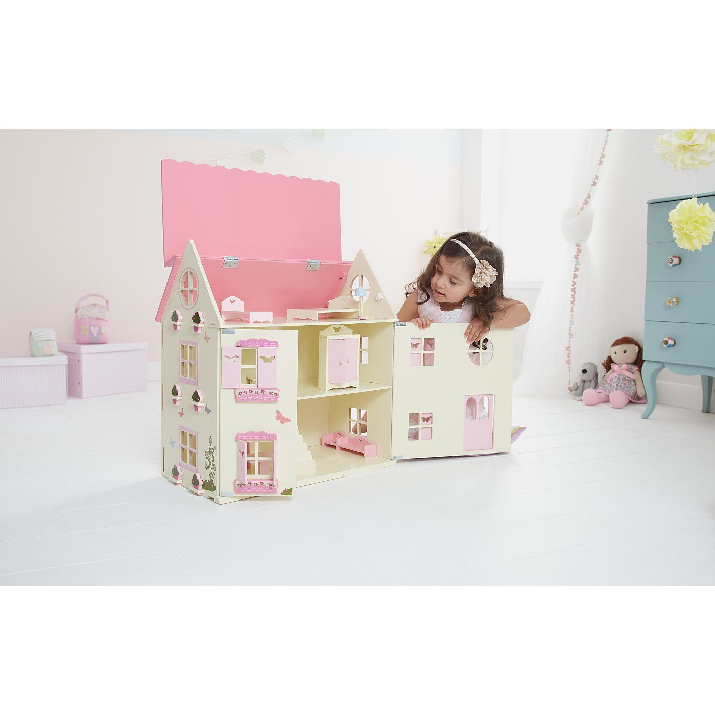 George Home Wooden Dolls House Wooden Toys Asda Direct