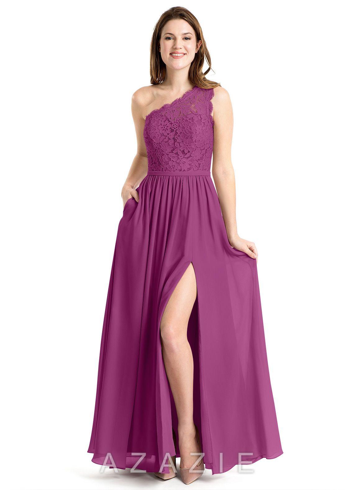 45eca13e88 Azazie Demi Bridesmaid Dress - Orchid