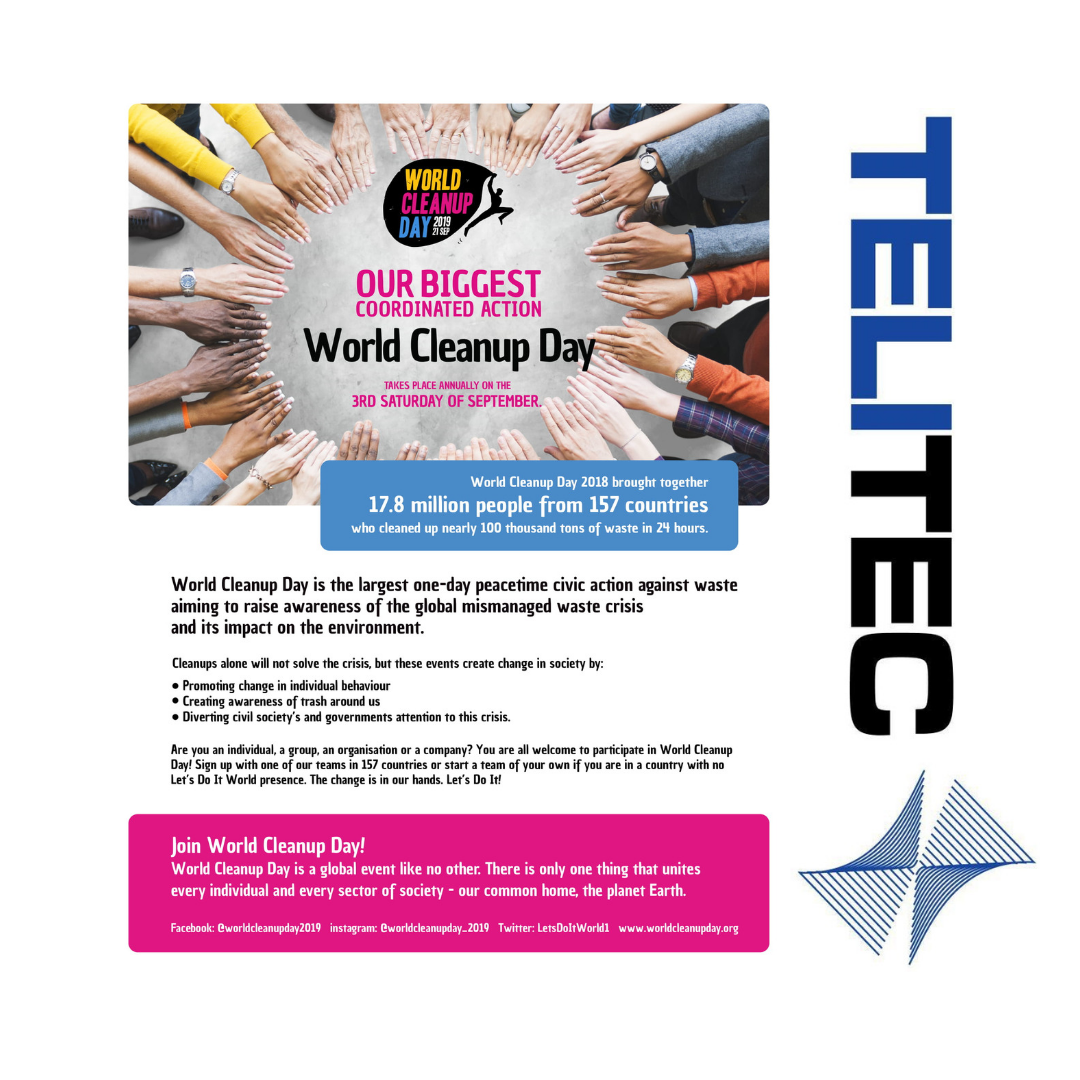 22nd September World Clean Up Day What Are You Going To Do Let Us Know In The Comments G Page Telitecsl Review Te 4g Internet Fiber Internet Mobile Data