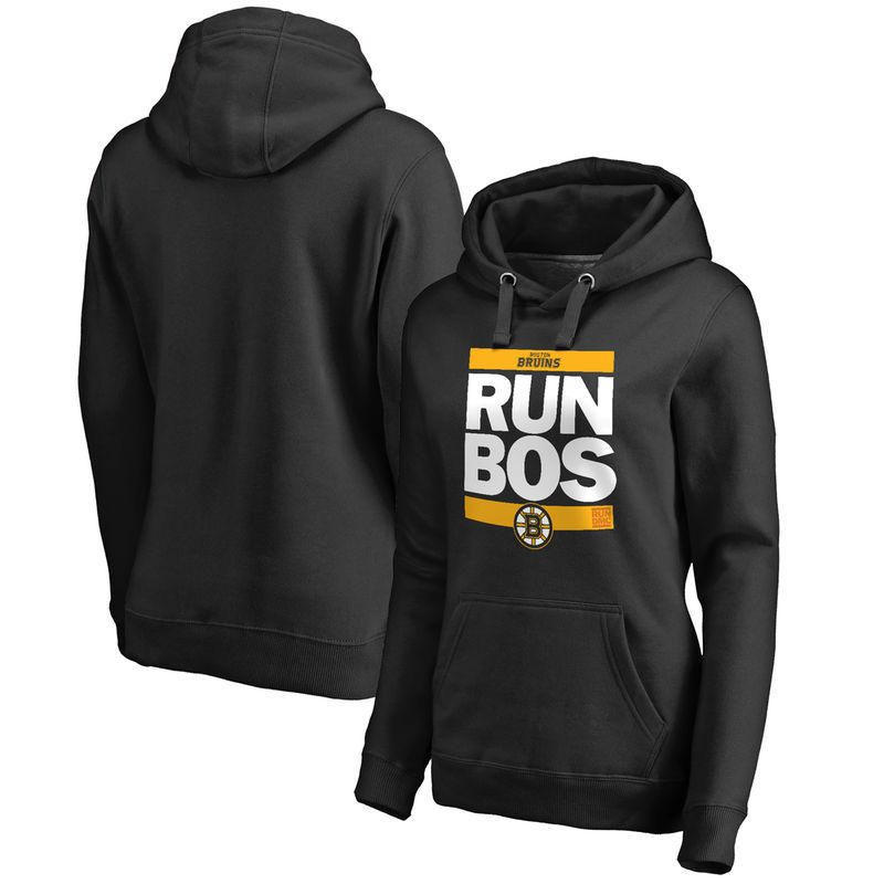 Boston Bruins Women s RUN-CTY Pullover Hoodie - Black  57570ca49