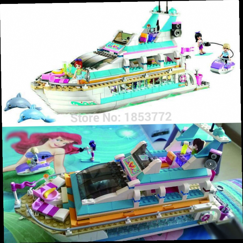 48.00$  Watch now - http://ali4pq.worldwells.pw/go.php?t=32687946175 - 2016 Bela 10172 Friends Series Girls Large cruise ships Model minifigures Building Blocks girl Summer toys