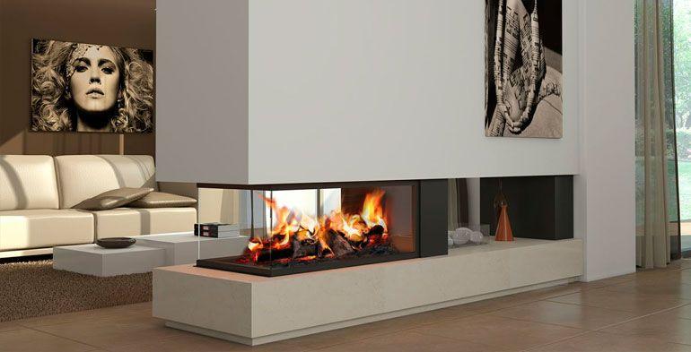 chimeneas modernas Chimeneas Pinterest Fireplace design, Fire - chimeneas modernas