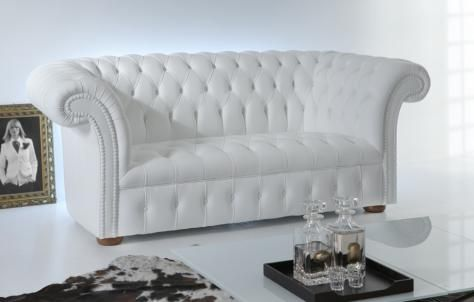 Chesterfield Sofas Old Chester White Loveseat No