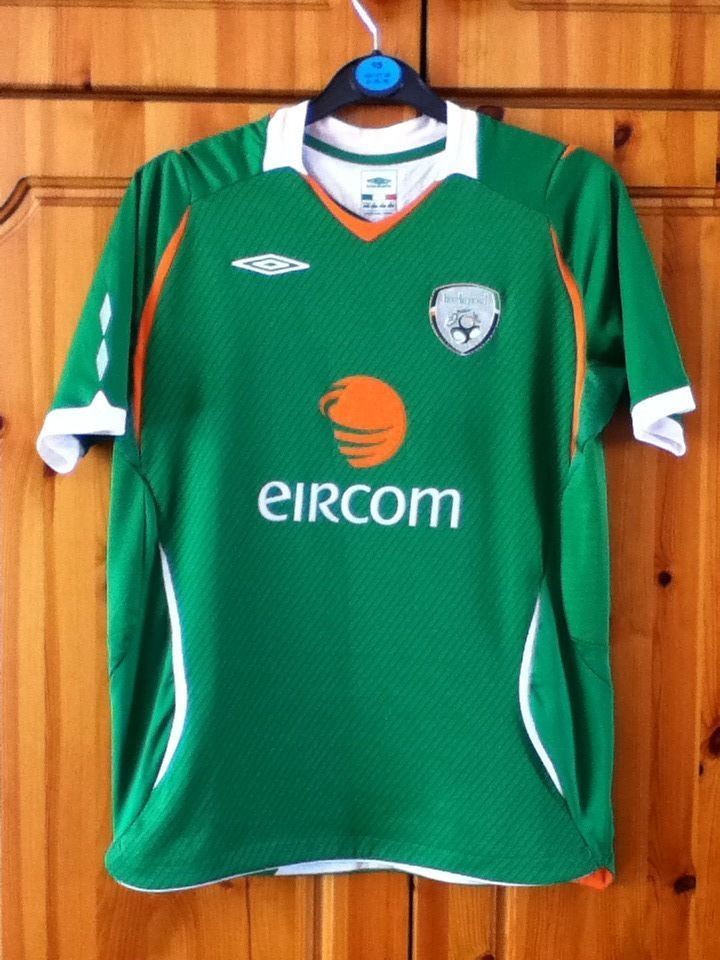 on sale e6960 d5500 Republic of Ireland National Football Team Home Jersey 2008 ...