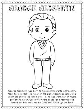 George Gershwin, Famous Composer Informational Text ...