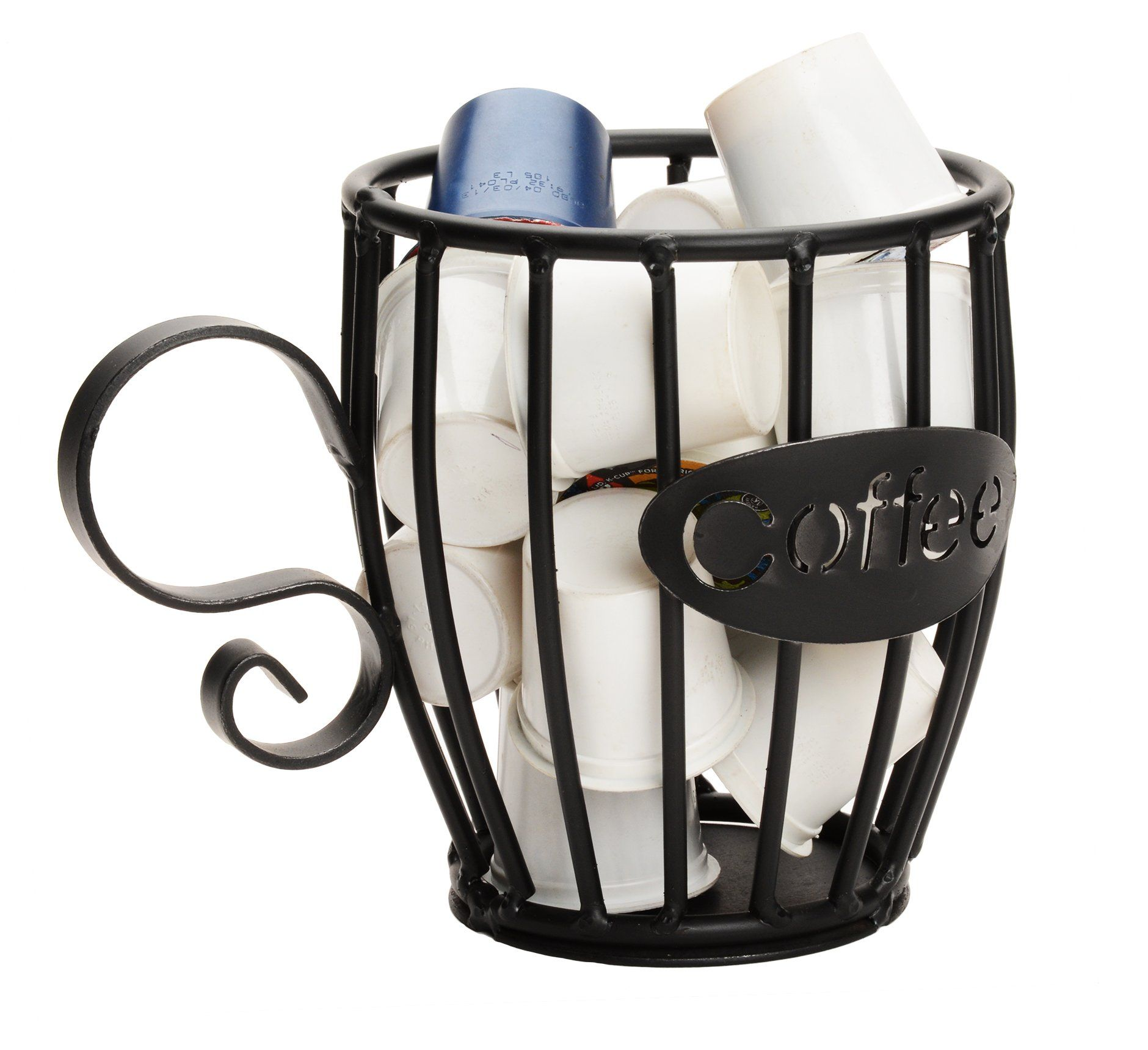 Coffee K Cup Holder Wrought Iron Mug Keurig Pod Storage Rack Usa Coffee Mug Holder K Cup Holders Mugs