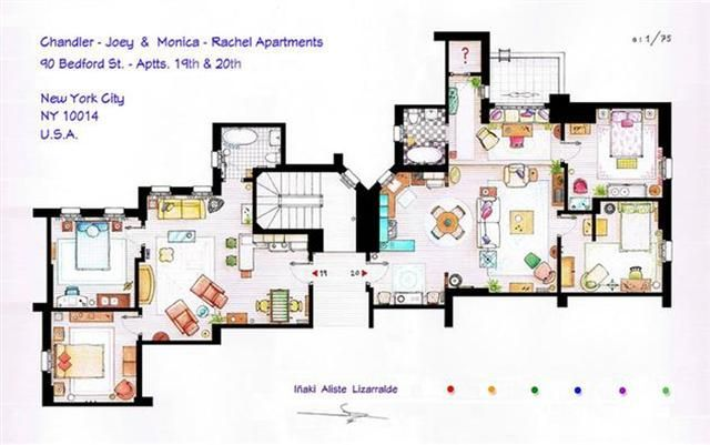 Detailed Floor Plans Reveal Apartment Layouts Of Fictional New Yorkers Gothamist
