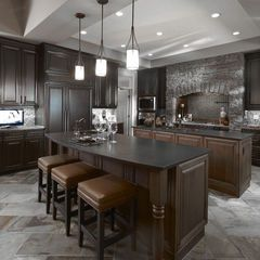 stonework around vent  traditional kitchen by Superior Cabinets