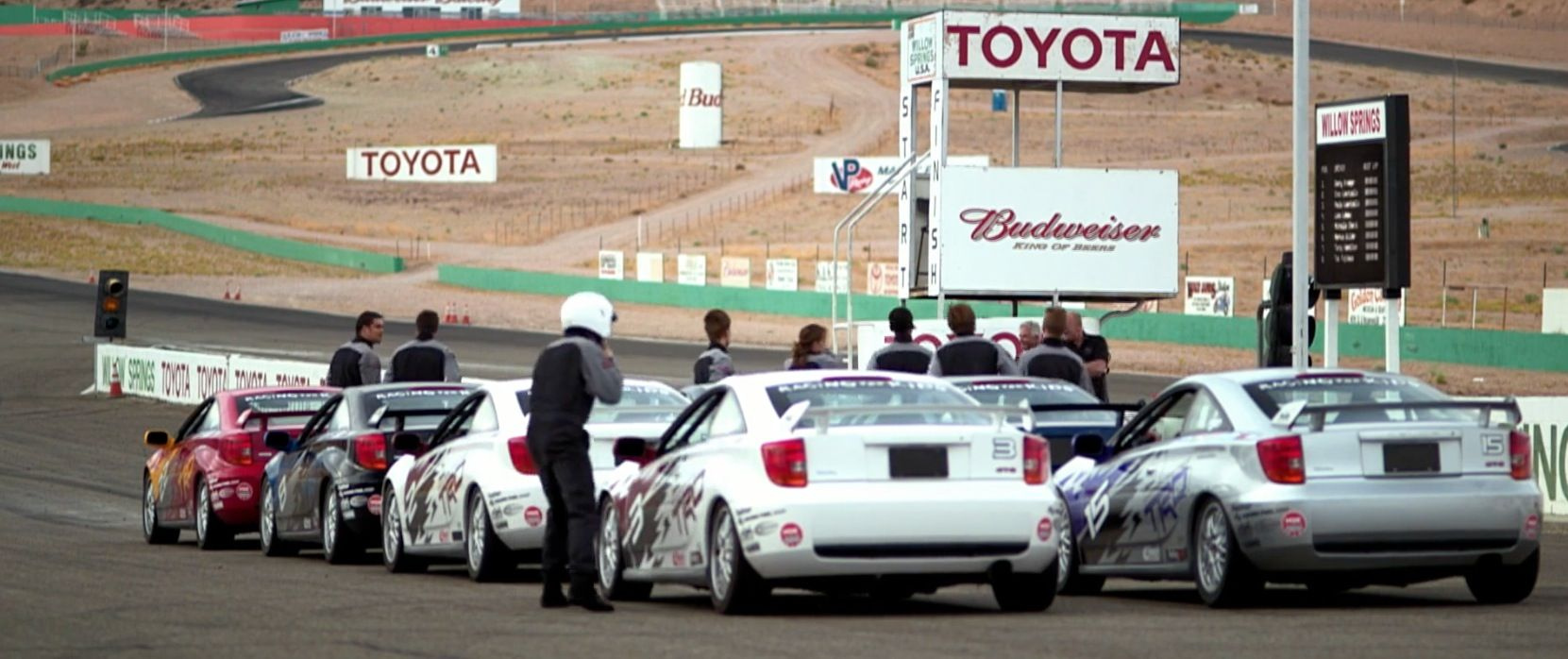 Budweiser And Toyota Billboards In Born To Race Fast Track