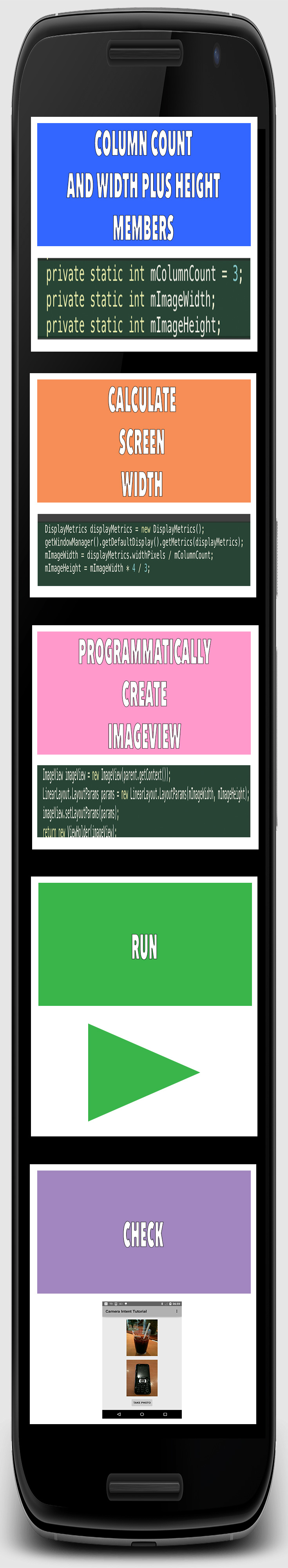 android recyclerview multi-column gallery | Android app performance