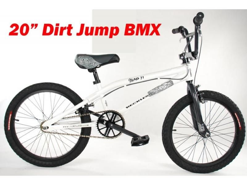 Reckless Dirt Jump White 20 Bmx Cycle Reckless